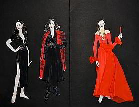 Croquis de costumes par Katia Duflot
