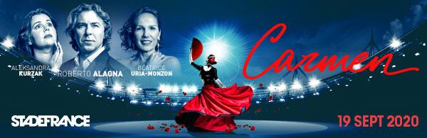 Carmen au Stade de France le 19 septembre 2020