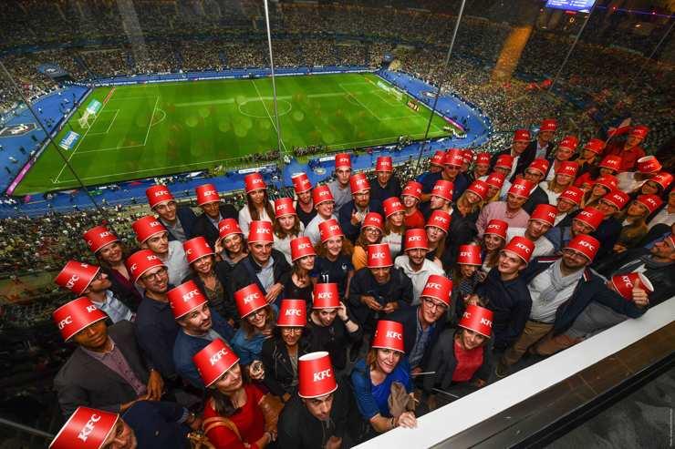 Séminaire KFC au restaurant Le {Club} pendant un match au Stade de France