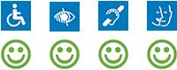 picto accessibilités tous vert