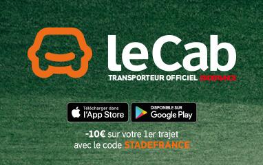leCab transporteur officiel STADEFRANCE