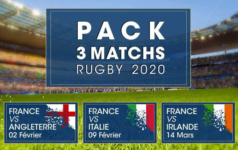 Pack 3 matchs : Rugby 2020