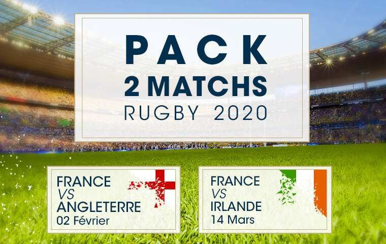 Pack 2 matchs : Rugby 2020