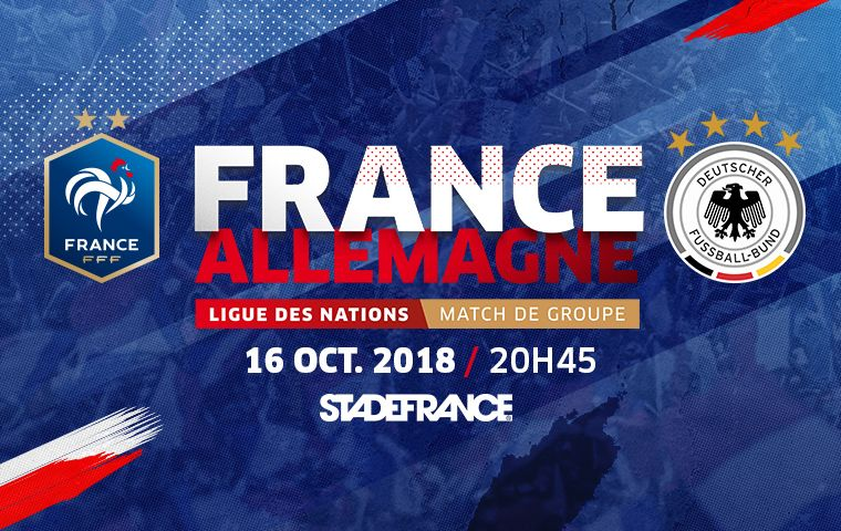 France / Allemagne au Stade de France le 16 octobre 2018