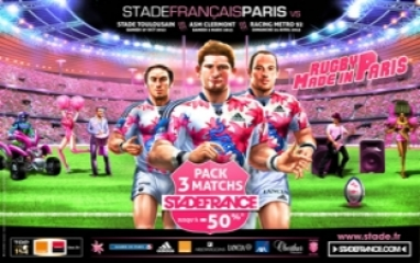 STADE FRANCAIS PARIS - Pack 3 Matches (2012-13)
