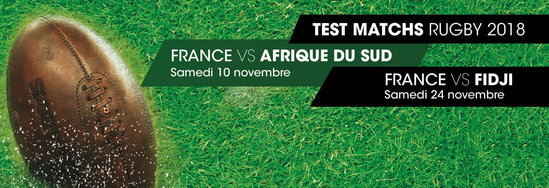 Test matchs Rugby 2018 France vs Afrique du Sud et France vs Fidji au Stade de France