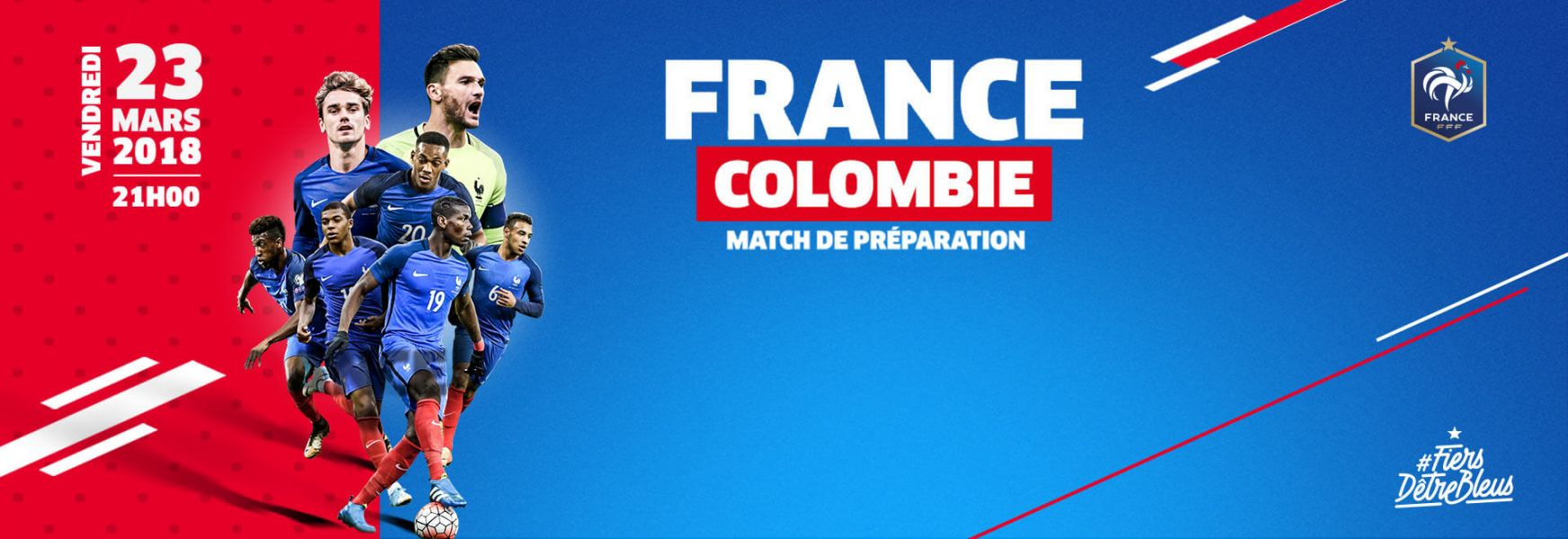 France/Colombie le vendredi 23 mars 2018 au Stade de France
