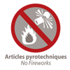 Pas d'articles pyrotechniques