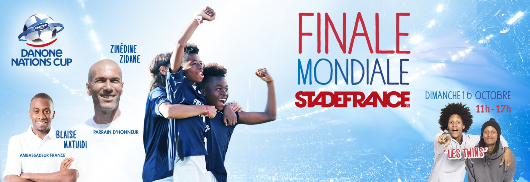 Danone Nations Cup le dimanche 16 octobre 2016 au Stade de France